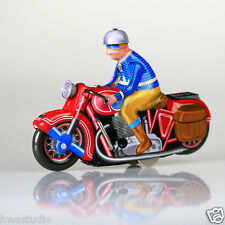 Wind Up Mechanical Motorbike Tin Toy Vintage Retro Style Collectable Clockwork