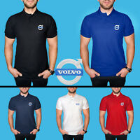 Volvo Polo T Shirt COTTON EMBROIDERED Auto Car Logo Tee Mens Clothing Gift