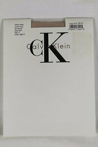 Calvin Klein Silken Sheer Control Top 20 Denier Light 2 Pantyhose NWT