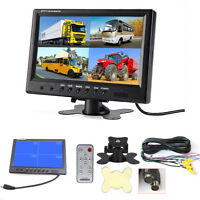 "9 ""TFT LCD 4 Split Video Displays LKW Auto SUV Dash Monitor mit Fernbedienung"