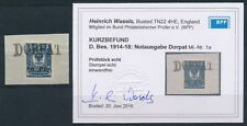 Notausgabe Dorpat 20 Pfennig Wappen 1918 Aufdruck Michel 1 a Befund (S15817)