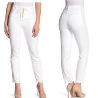 MOTHER Women's Sz 24 Lace Up Dazzler Ankle White Denim Jeans NWT High Rise