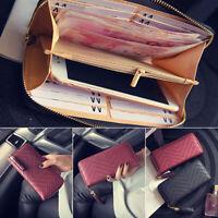 Women Faux Leather Card Holder Wallet Clutchs Checkbook Tassel Handbag Purse