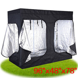 "96""x48""x78"" Indoor Grow Tent Room Reflective Hydroponic Non Toxic Hut"