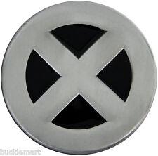 X-Men Logo Belt Buckle grey logo XMen All Metal enamel  Xman X-Man Wolverine