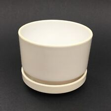 Small Vintage Mid Century Cylinder Plastic Planter 70's 80's Architectural 4.5�