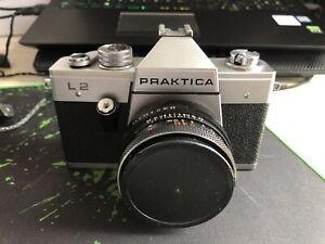 Spiegelreflexkamera Praktica L2 Mit 50mm Objektiv Und Tasche
