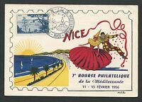 FRANCE MK 1956 NICE NIZZA MAXIMUMKARTE CARTE MAXIMUM CARD MC CM d7117