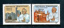 Republica Dominica 1121-1122, MNH, Pope John Paul II 1992. x20425