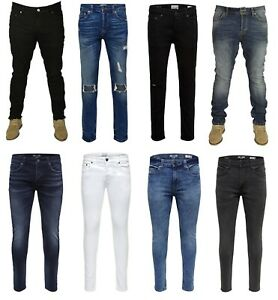 Mens Designer Only & Sons Jeans Blue Black White Pants Trousers Jeans Size 28-36