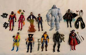 Marvel Legends X-Men Action Figure Lot (11) Wendigo BAF, Storm, Jubilee, X-Force