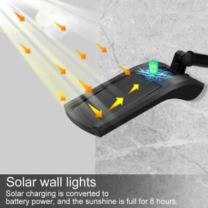 Waterproof LED Solar Wall Street Light Outdoor PIR Motion Sensor Garden Lamp AU