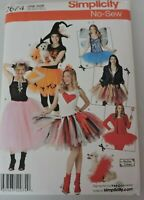Simplicity Family Halloween Costumes No Sew Sewing Pattern Small Dog Tutus 2074