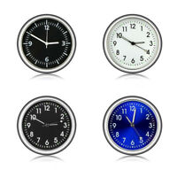 Luminous Car Mini Watch Quartz Analog Digital Wall Clock Thermometer DIY Decor