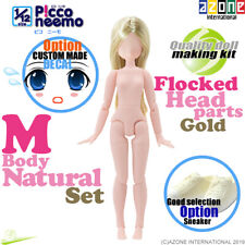 AZONE 1/12 Picco Neemo M Natural Body & Flocked Head parts Gold hair Doll NEW