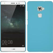 Hardcase for Huawei Mate S rubberized light blue Cover + protective foils