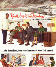 1947 Ad ~ NEW YORK CENTRAL Railroad RR ~ Year-round Comfort Dining, Sleeping,etc