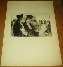 HONORE DAUMIER LITHOGRAPH LAW & JUSTICE BOOK PRINT SIGNED LAWYER FRENCH 10X14 5