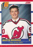 1990-91 SCORE CANADIAN==1st ROUND DRAFT CHOICE=RC #-2 MARTIN BRODEUR==NJ DEVILS