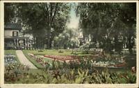 Glen Falls NY Warren St. Garden & Residence c1910 Detroit Publishing Postcard