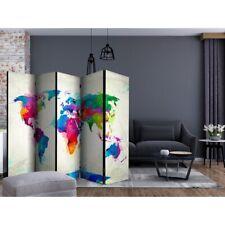 Winnett 5 Panel Room Divider World Map by Ebern Designs