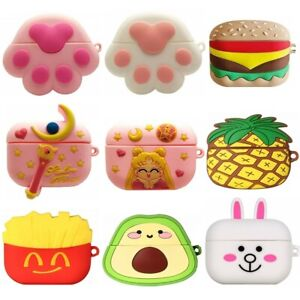 3D Cute Cartoon Silicone Kids Cover Case For Airpods Pro 2 1 Charging Case Skin
