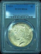 1923 Peace Dollar MS66 PCGS, Incredible Eye Appeal