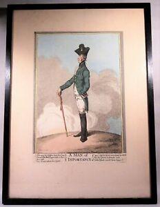 "James Gillray ""A Man of Importance"" Original Antique Satirical Print 1799"