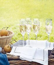 Ralph Lauren ~ Brogan Classic ~ Champagne Flute ~ Exquisite Hand Cut Crystal NIB