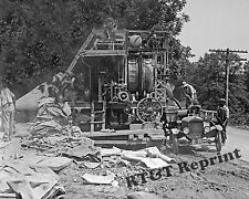 Photograph Vintage Cement Mixer & Herr Dump Car 1925  8x10
