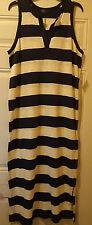 New! Womens Gap Navy Striped Summer Tank Maxi Beach Dress Sz XL Xlarge 16 18