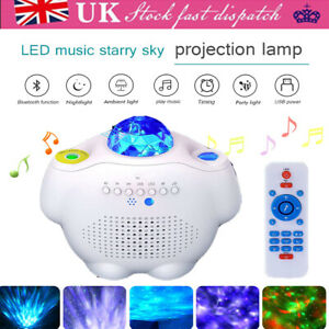 LED Galaxy Music Starry Sky Projection Lamp Ocean Wave Night Light w/Remote UK