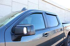 Tape-On Wind Deflectors 2019 Chevy Silverado 1500 Crew Cab