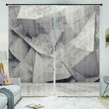 Gray Irregular Idle 3D Curtain Blockout Photo Printing Curtains Drape Fabric
