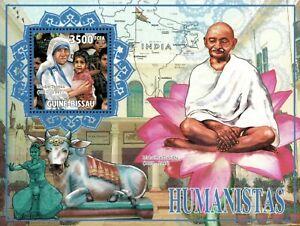 Guinea-Bissau 2010 - Gandhi, Mother Teresa, Humanists - Souvenir Sheet - MNH