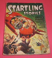 STARTLING STORIES: JANUARY 1942 ~ ISAAC ASIMOV (!), GALLUN, WELLMAN