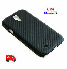 Black Carbon Fiber Plastic Replacement Cover for Samsung Galaxy S4 / I9500