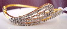 American Diamond Stunning White Designer Bracelet Gold Plated 1121 2B 22