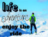 Life is an adventure enjoy the ride r retro vintage style metal wall plaque sign