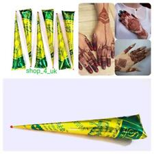 3x Organic Brown Henna Mehandi Cone for Temporary Tattoo Body Art Free&Fast Post