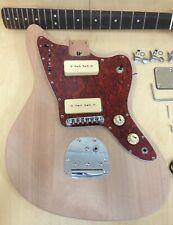 E400 Electric Guitar DIY, Mahogany Solid Body & Neck,No-Solder