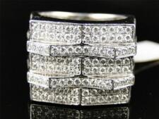 White Gold Mens Genuine Round Cut Diamond Pave Set Pinky Band Ring 3.65 Ct