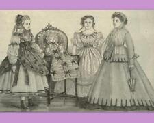 PATRON LA MODE ILLUSTREE n° 16 de 1899 vêtement poupée ancienne DOLL PATTERN