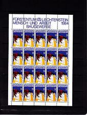 Liechtenstein Series courantes l'homme et le travail 35 r feuille 20 TP n° 793