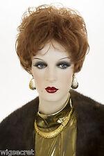 Auburn Red Short Wavy Curly Wigs