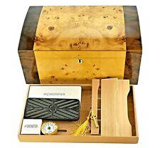 125 Capacity Locking Cedar Cigar Humidor w/ Humidifier and Hygrometer - QUOTE125