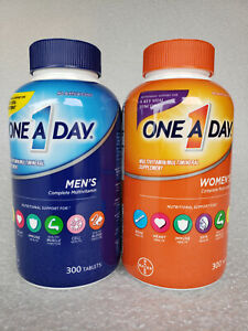 One A Day Men's 300 Tablets and One A Day Women's 300 Tablets  Multivitamin