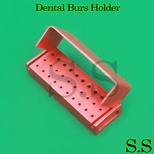30 Holes Dental Aluminum Bur Burs Holder Box Autoclave Magenta Color DN-2088