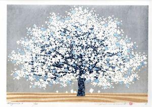 Hajime Namiki 2018 woodblock print Magnoria-2 27x39cm