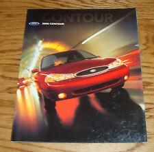 Original 2000 Ford Contour Foldout Sales Brochure Poster 00